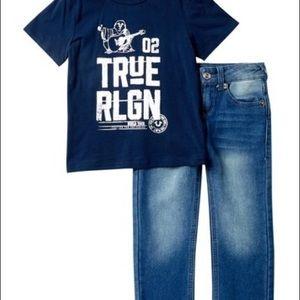 True Religion Buddha 02 tee & pants set new